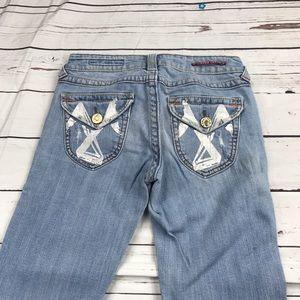 Juniors Vigoss Size 5 Light Boot Cut Jeans